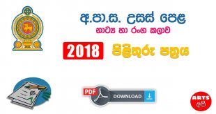 Advanced Level Drama 2018 Marking Scheme