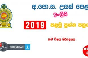 Advanced Level English 2019 Paper Part I New Syllabus